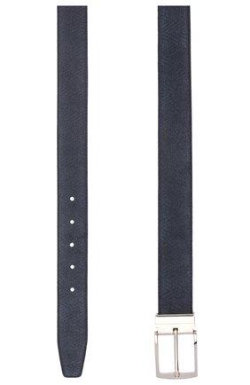 Мужской кожаный ремень GIORGIO ARMANI черного цвета, арт. Y2S221/YSC2E   Фото 2