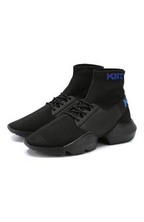 Мужские текстильные кроссовки KNT черного цвета, арт. USSK011N00423 | Фото 1