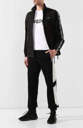 Мужские текстильные кроссовки KNT черного цвета, арт. USSK011N00423 | Фото 2