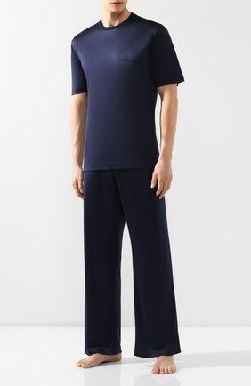 Мужская шелковая пижама BRIONI темно-синего цвета, арт. UJ9Y0L/P8607 | Фото 1