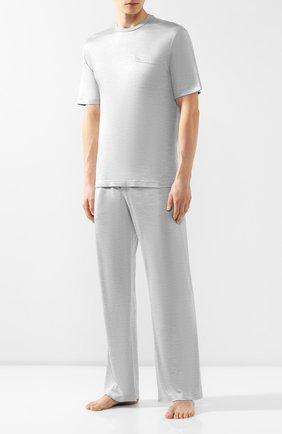 Мужская шелковая пижама BRIONI светло-серого цвета, арт. UJ9Y0L/P8608 | Фото 1