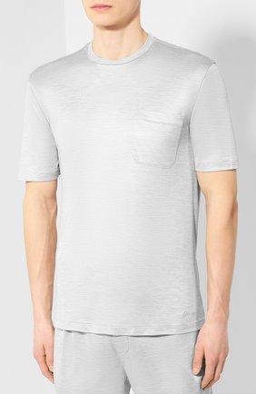 Мужская шелковая пижама BRIONI светло-серого цвета, арт. UJ9Y0L/P8608 | Фото 2