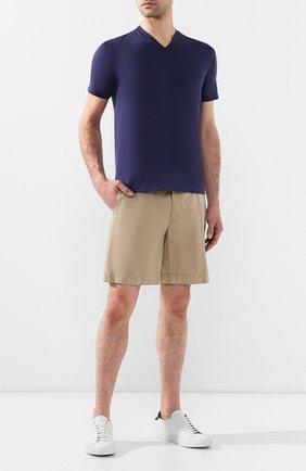 Мужская хлопковая футболка CRUCIANI синего цвета, арт. CUJ0SB.V30 | Фото 2