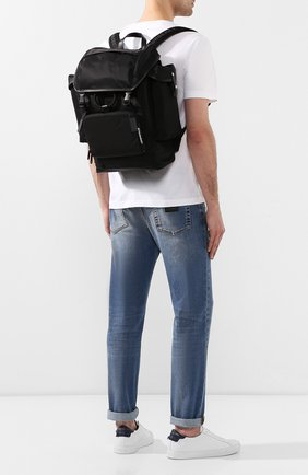 Мужской текстильный рюкзак BURBERRY черного цвета, арт. 8010607 | Фото 2