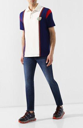 Мужские джинсы GUCCI синего цвета, арт. 408637/XDAK2 | Фото 2