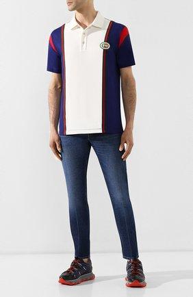 Мужское хлопковое поло GUCCI разноцветного цвета, арт. 560512/XJATW | Фото 2