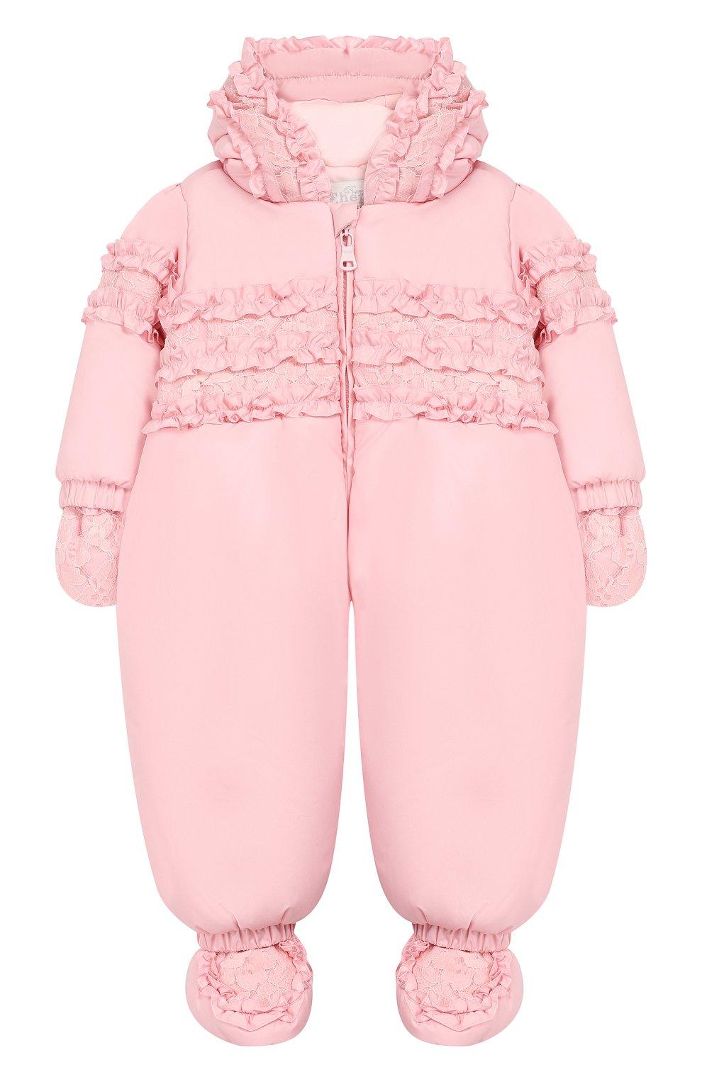 Детский комбинезон монпасье CHEPE розового цвета, арт. 391863   Фото 1