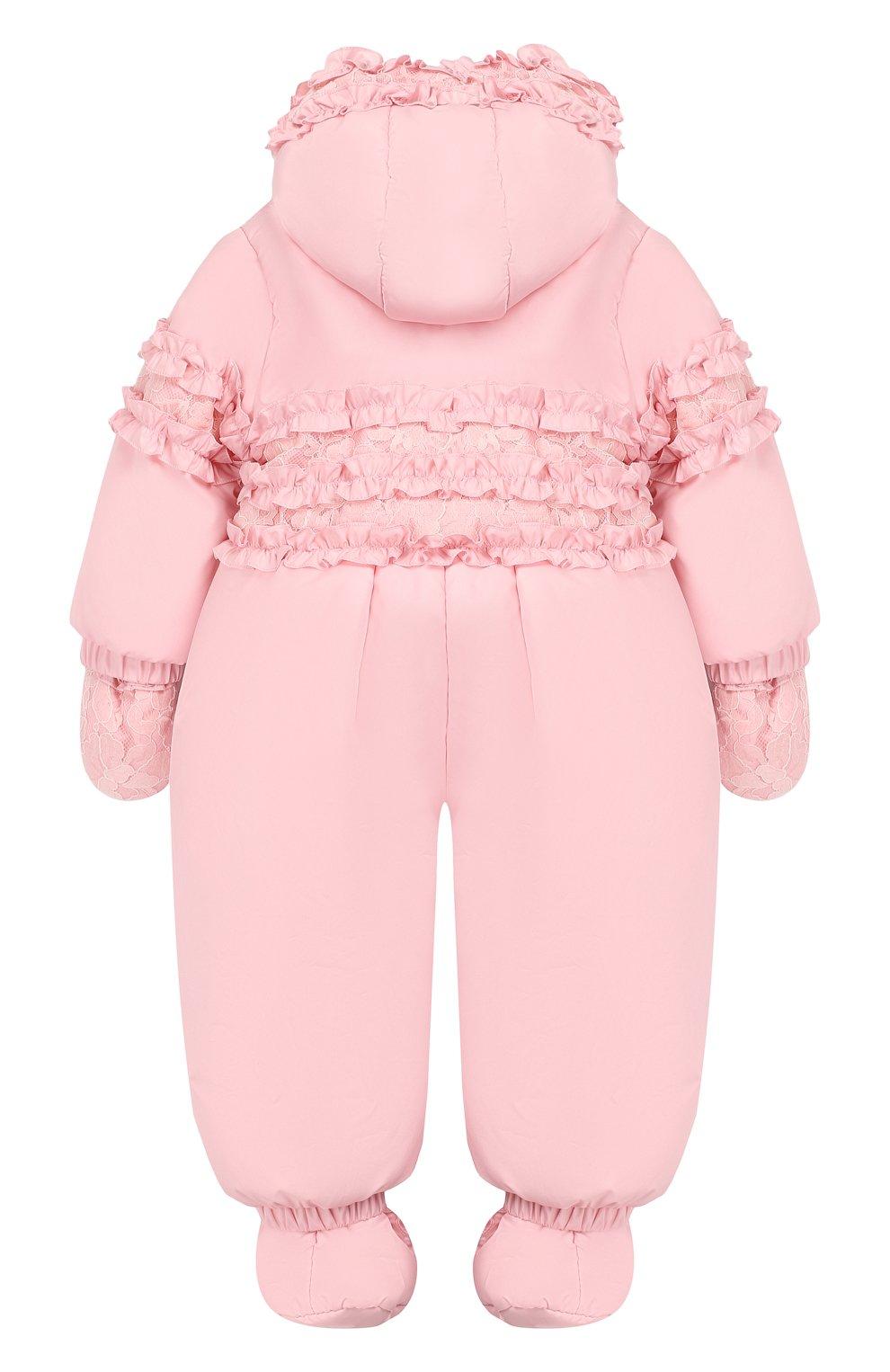Детский комбинезон монпасье CHEPE розового цвета, арт. 391863   Фото 2