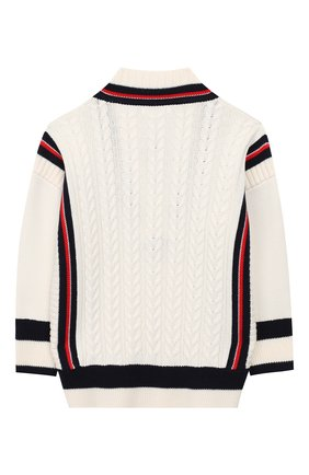 Детский хлопковый пуловер BURBERRY белого цвета, арт. 8008793 | Фото 2