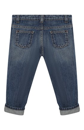 Детские джинсы с потертостями GUCCI синего цвета, арт. 455454/XR384 | Фото 2