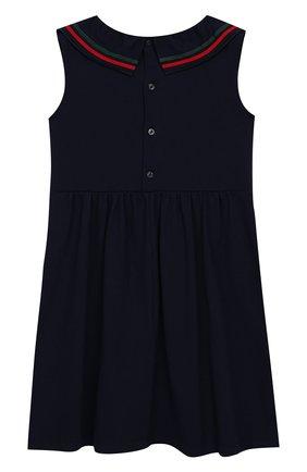 Детское хлопковое платье GUCCI синего цвета, арт. 544057/XJALP | Фото 2