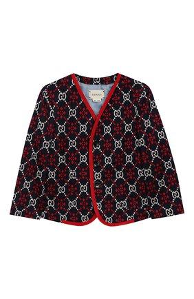 Детский хлопковый пиджак GUCCI разноцветного цвета, арт. 546871/XWACB | Фото 1