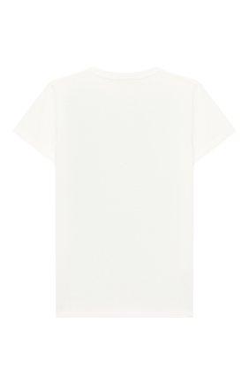 Детская хлопковая футболка GUCCI зеленого цвета, арт. 547559/XJAIC | Фото 2