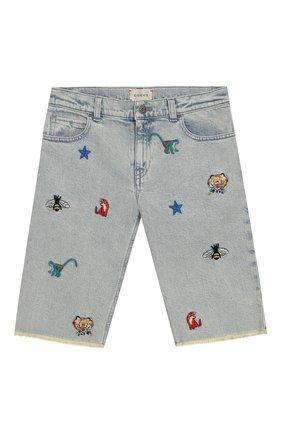 Детские джинсовые шорты GUCCI голубого цвета, арт. 547821/XDAC7 | Фото 1