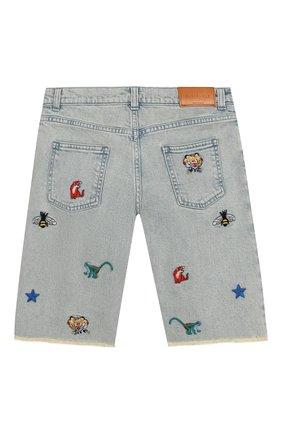 Детские джинсовые шорты GUCCI голубого цвета, арт. 547821/XDAC7 | Фото 2