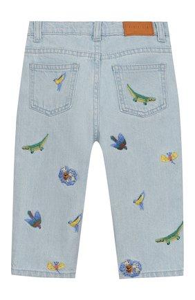 Детские джинсы с вышивкой GUCCI голубого цвета, арт. 551319/XDAGJ | Фото 2