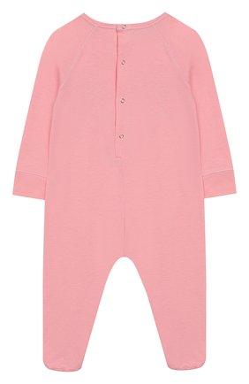 Детский хлопковый комбинезон GUCCI розового цвета, арт. 552385/XJAPU | Фото 2
