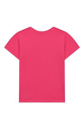 Детский хлопковая футболка GUCCI фуксия цвета, арт. 555675/XJAPU | Фото 2