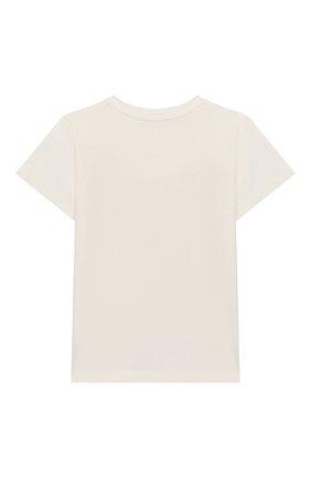 Детский хлопковая футболка GUCCI белого цвета, арт. 555675/XJAPU | Фото 2