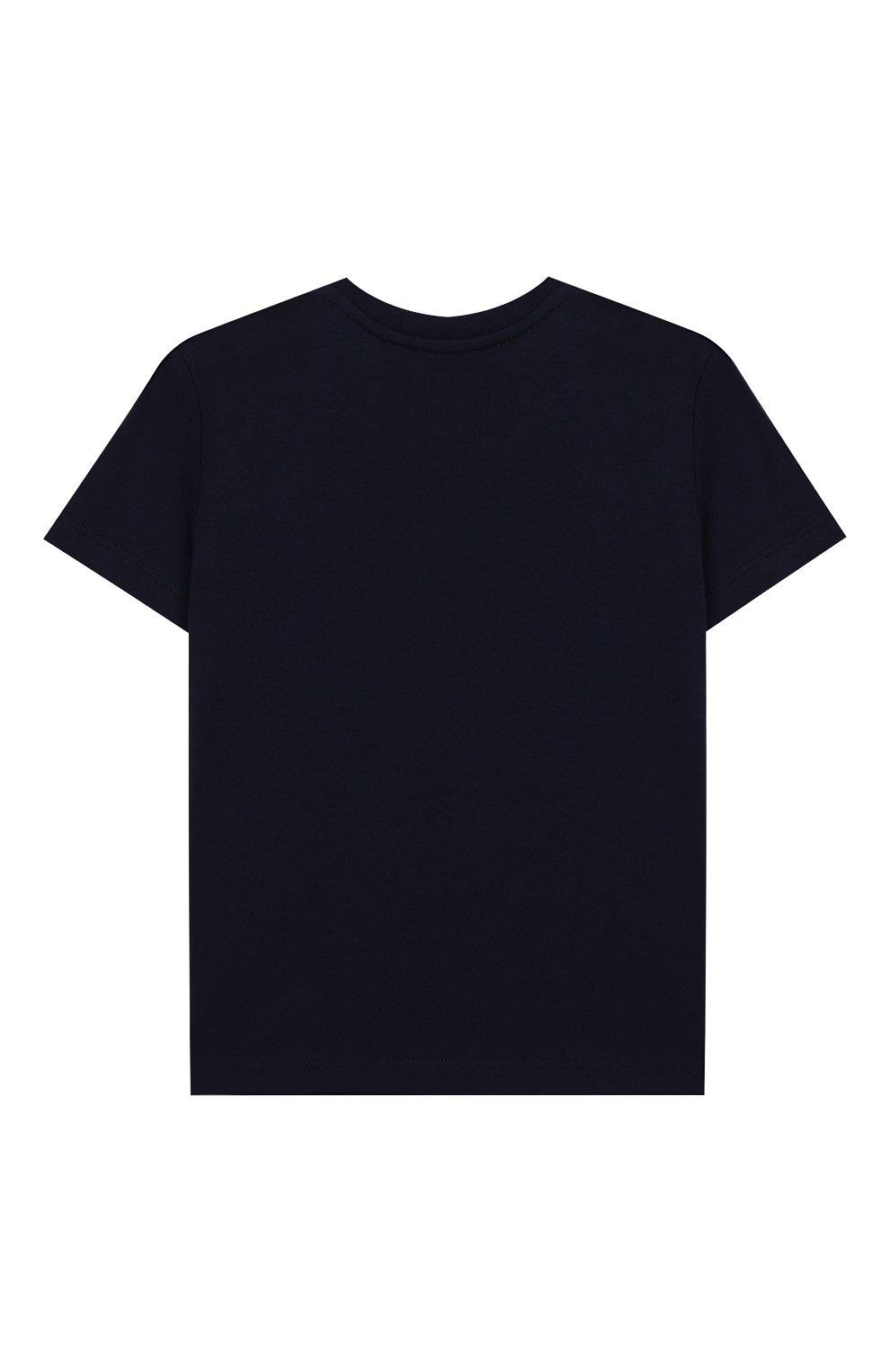 Детский хлопковая футболка GUCCI синего цвета, арт. 548034/XJAIG | Фото 2