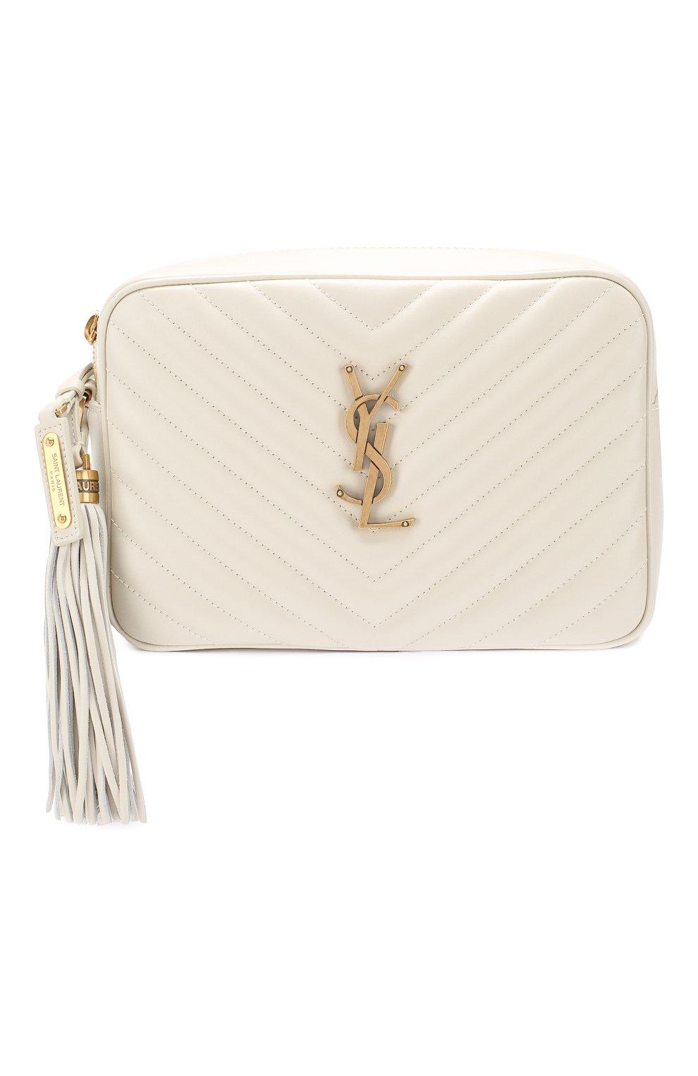 Женская сумка lou medium SAINT LAURENT белого цвета, арт. 520534/DV707 | Фото 1