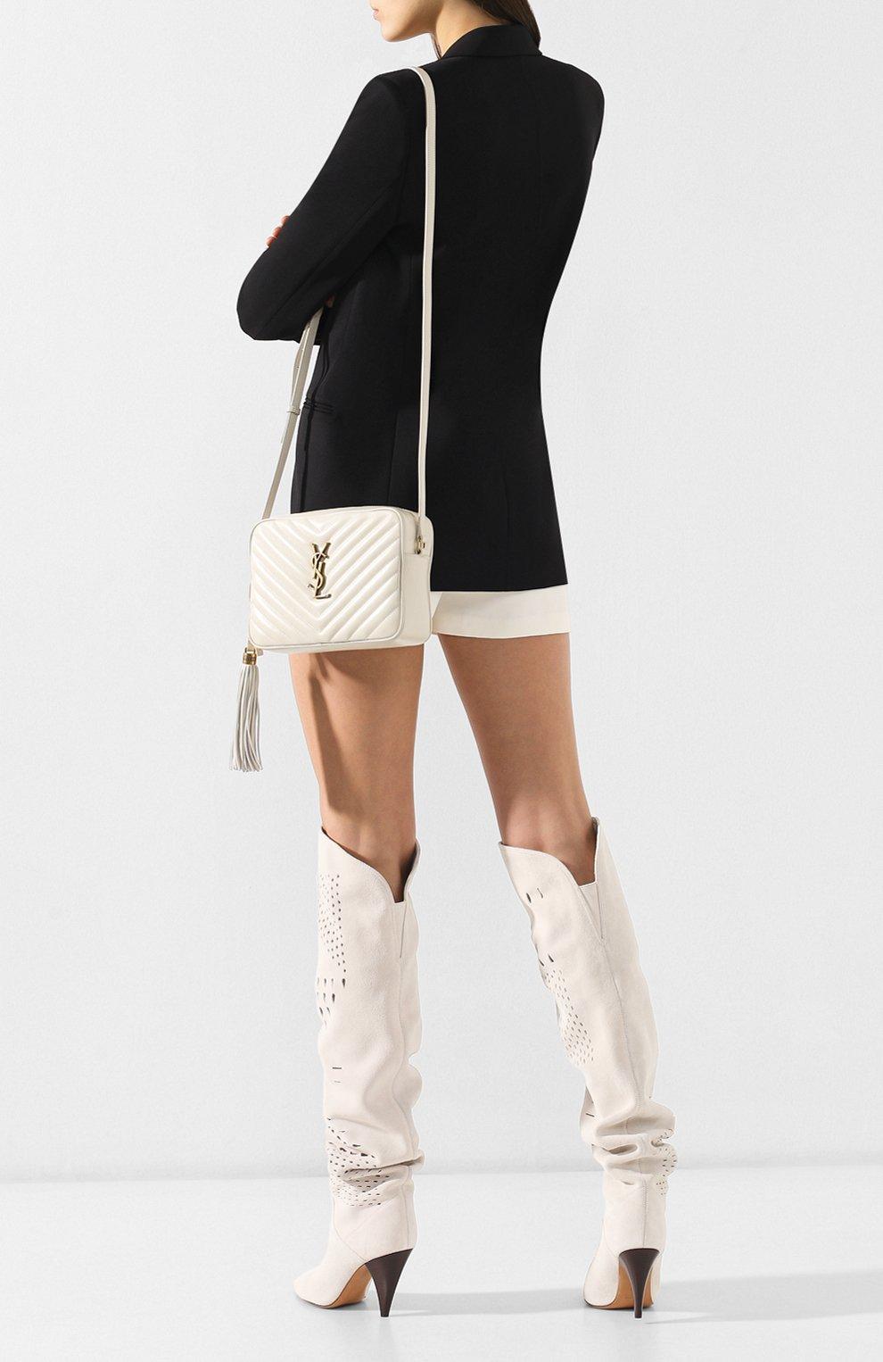 Женская сумка lou medium SAINT LAURENT белого цвета, арт. 520534/DV707 | Фото 2