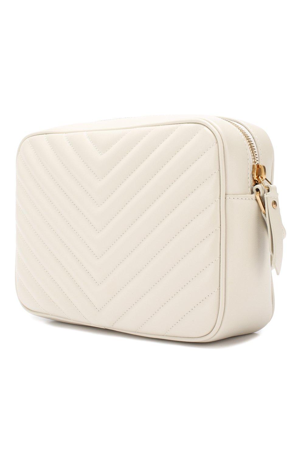 Женская сумка lou medium SAINT LAURENT белого цвета, арт. 520534/DV707 | Фото 3