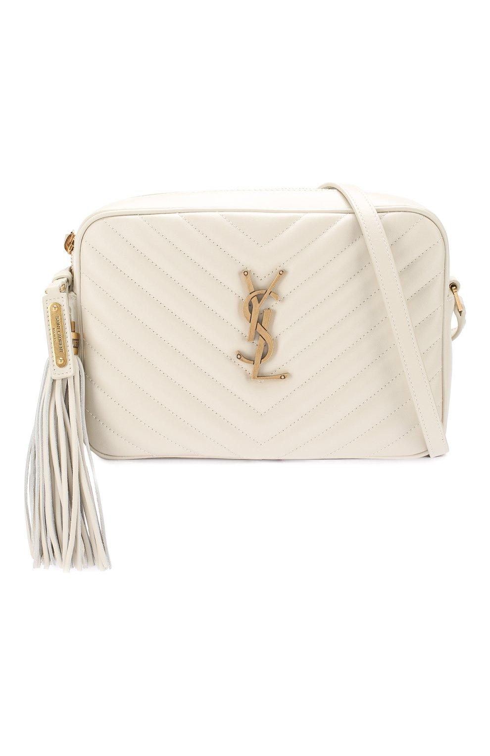Женская сумка lou medium SAINT LAURENT белого цвета, арт. 520534/DV707 | Фото 5