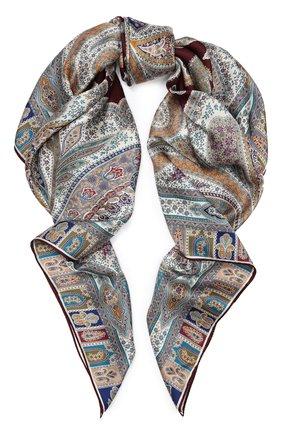 Женский шелковый платок MICHELE BINDA бордового цвета, арт. 21035915 | Фото 1