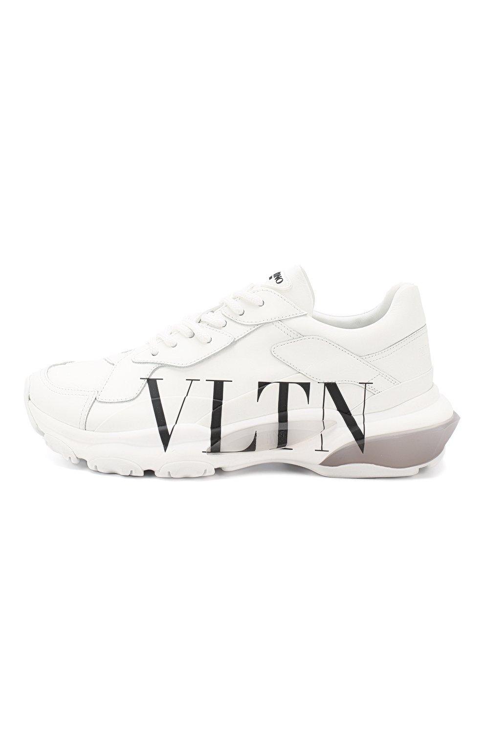 Кожаные кроссовки Valentino Garavani Bounce Valentino белые | Фото №3