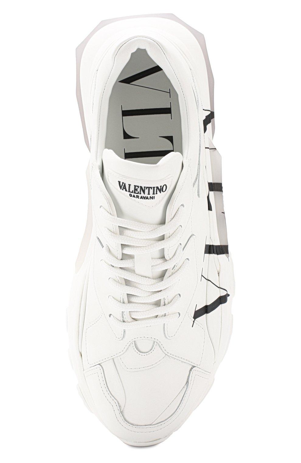 Кожаные кроссовки Valentino Garavani Bounce Valentino белые | Фото №5