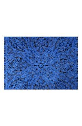 Женский шелковый платок MICHELE BINDA синего цвета, арт. 21036101 | Фото 2