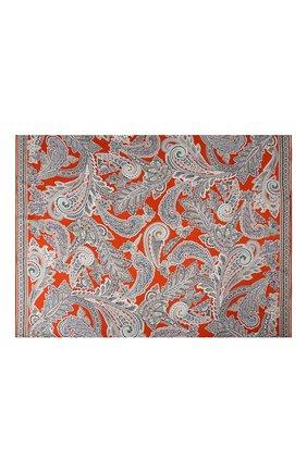 Женский шелковый платок MICHELE BINDA оранжевого цвета, арт. 21036350 | Фото 2