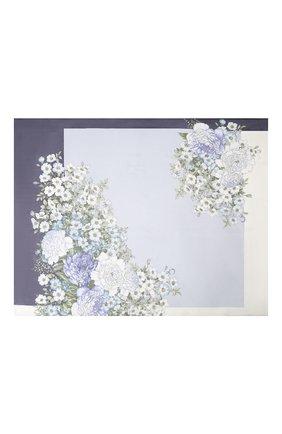Женский шелковый платок EMILIO CONTE голубого цвета, арт. K01414 SH432 | Фото 2