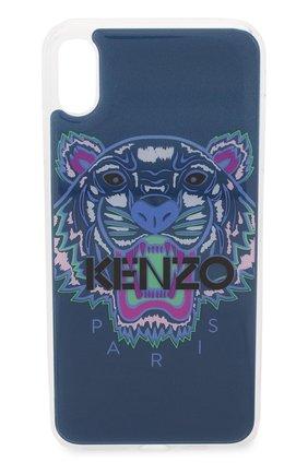 Мужской чехол для iphone xs max KENZO синего цвета, арт. C0KIXPTIG | Фото 1