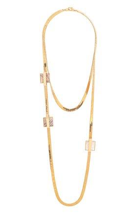 Колье Crystalline Jewellery золотое | Фото №1