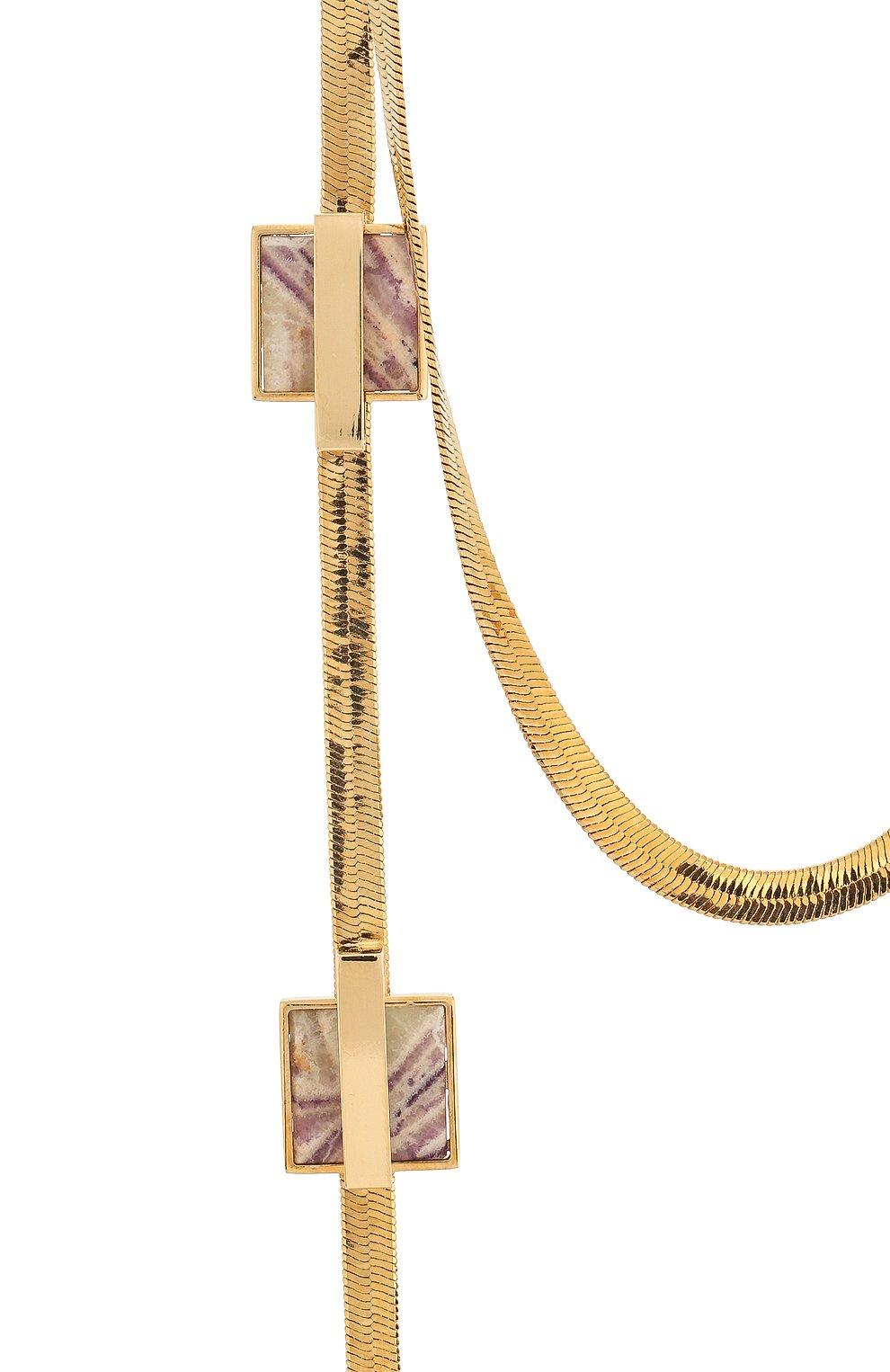 Колье Crystalline Jewellery золотое | Фото №2