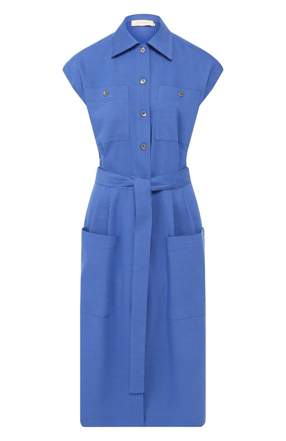 Платье из смеси льна и вискозы | Фото №1