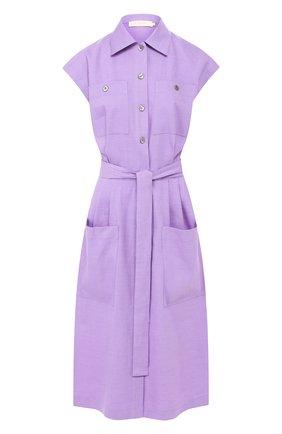 Платье из смеси льна и вискозы   Фото №1