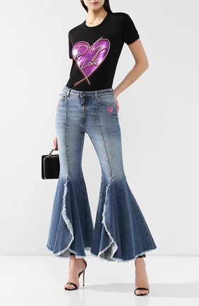 Женские расклешенные джинсы DOLCE & GABBANA голубого цвета, арт. FTA0IZ/G897N   Фото 2