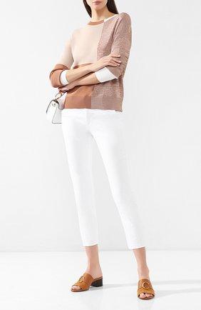 Женские укороченные брюки AG белого цвета, арт. SBW1613/WHT | Фото 2
