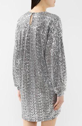 Платье с пайетками Isabel Marant серебряное | Фото №4