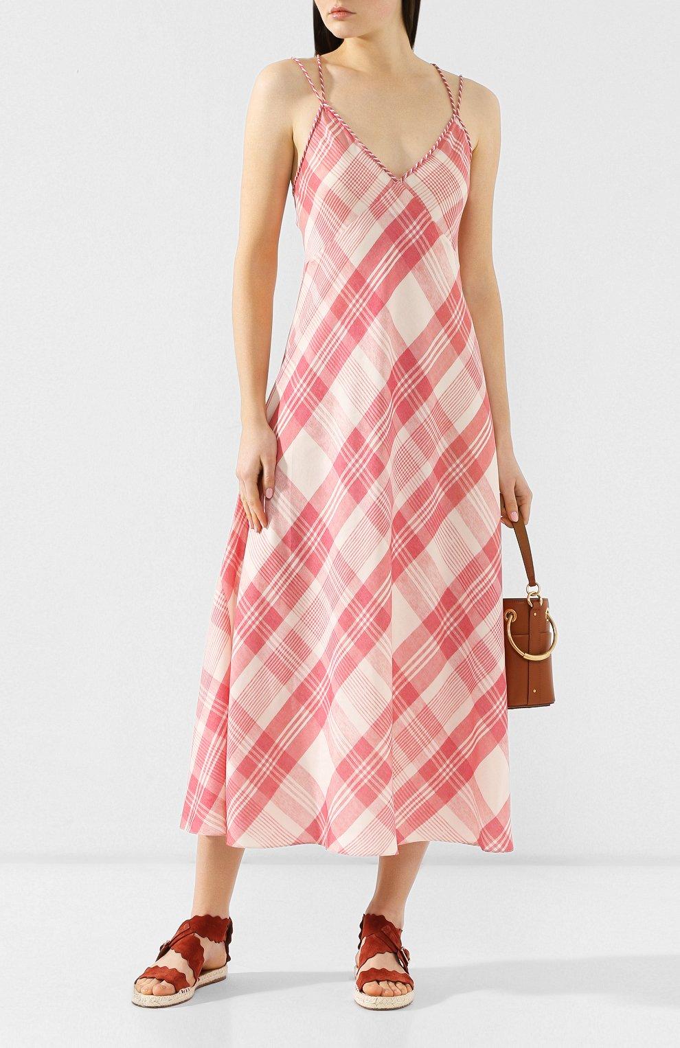 Платье-миди Polo Ralph Lauren разноцветное | Фото №2