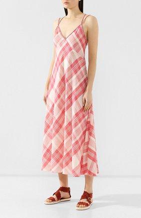 Платье-миди Polo Ralph Lauren разноцветное | Фото №3