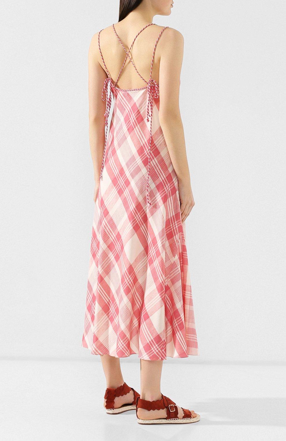 Платье-миди Polo Ralph Lauren разноцветное | Фото №4