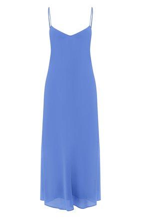 Женское платье из вискозы POLO RALPH LAUREN голубого цвета, арт. 211746211 | Фото 1