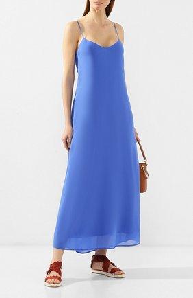 Женское платье из вискозы POLO RALPH LAUREN голубого цвета, арт. 211746211 | Фото 2