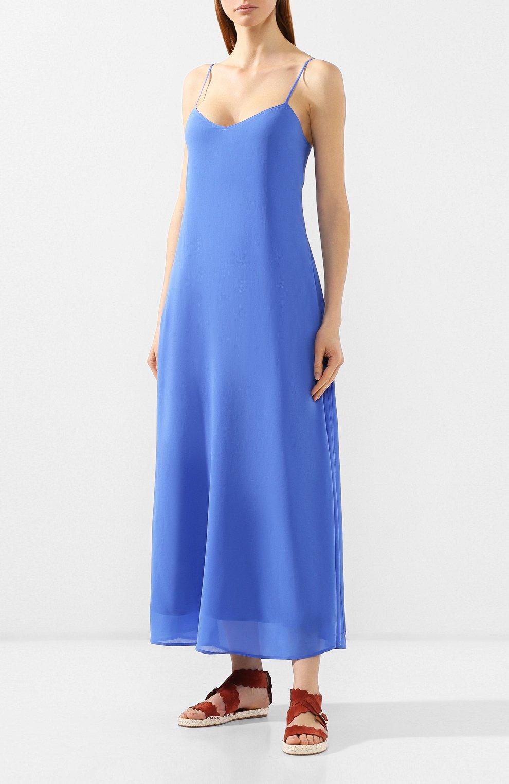 Женское платье из вискозы POLO RALPH LAUREN голубого цвета, арт. 211746211 | Фото 3