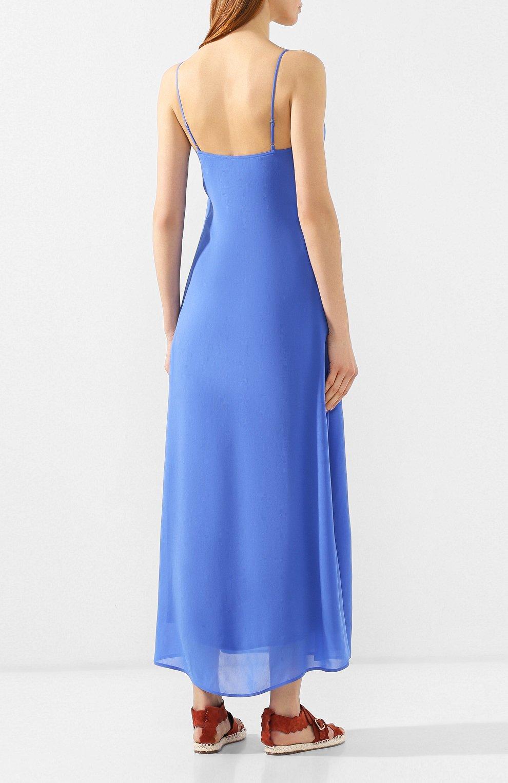 Женское платье из вискозы POLO RALPH LAUREN голубого цвета, арт. 211746211 | Фото 4