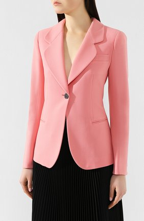 Шерстяной жакет Giorgio Armani розовый | Фото №3